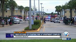 Man charged with setting Riviera Beach apartment complex on fire - Video