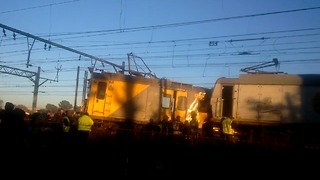 Driver Killed in Train Collision Near Johannesburg - Video