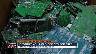 Dispose of your old electronics for free and feed the hungry at the same time - Video