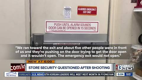 Shopper claims emergency door would not open during Ross store shooting