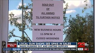 Local gun shops see spike in sales