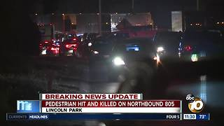 Pedestrian's death on I-805 under investigation