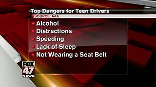 Drinking, distraction among top reasons for teen crashes - Video