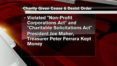Priest-aid group hit with cease and desist