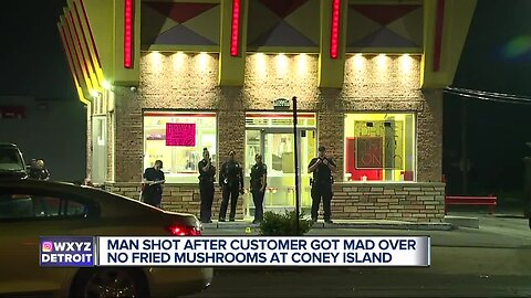 Man shot multiple times overnight at coney island in Detroit over fried mushrooms