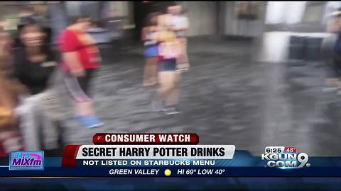 Starbucks' secret menu for Harry Potter fans