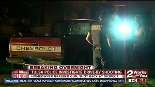 Tulsa Police investigate drive-by shooting - Video