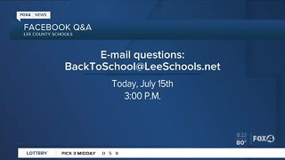 Lee County School District holds live Facebook meeting