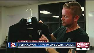 Tulsa football coach wants to give away more than 1,000 coats to students throughout city - Video