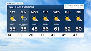 Skies stay clear Friday night with temps in the low 30s