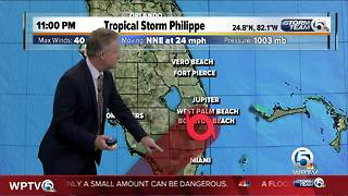 11 p.m Tropical Storm Philippe update - Video