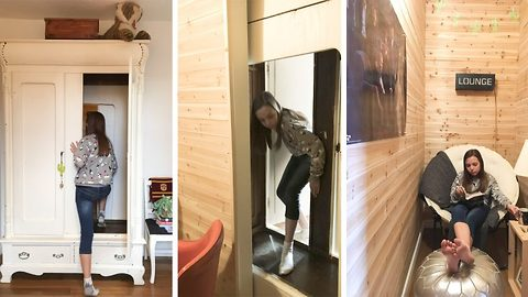 Check Out This Real-Life Narnia Wardrobe That Turns Into A Secret Bedroom