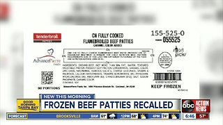 Frozen beef patties recalled due to possible plastic contamination
