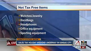 Tax-free weekend underway in KCMO - Video