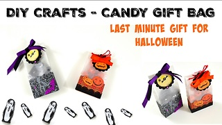 DIY candy gift bag: Last minute Halloween idea