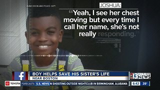 Boy helps save sister's life