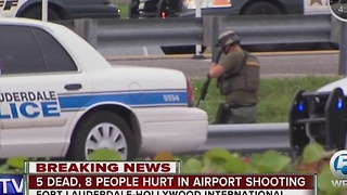 Active scene at Fort Lauderdale International Airport shooting - Video