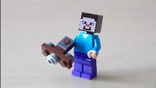 Lego Minecraft Crossbow Tutorial