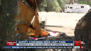 Homeless camps near Hart Park scaring locals from visiting the area - Video