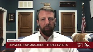 Rep. Mullin speaks about events at U.S. Capitol