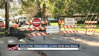Tampa hires contractors to help fix water main breaks - Video
