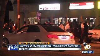 Mayor, leaders meet following El Cajon police shooting - Video