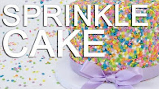 How-To Make A Rainbow FUNFETTI Sprinkle CAKE - Video
