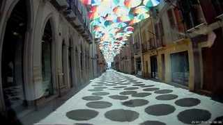 This Umbrella Display Over the Streets of Sardinia Is Beautiful - Video