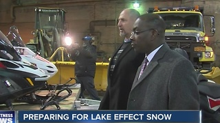 Snow storm preps underway - Video