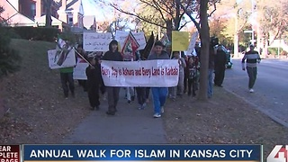 Annual walk for Islam in Kansas City - Video