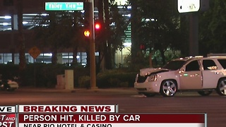 Pedestrian killed near the Rio hotel-casino - Video