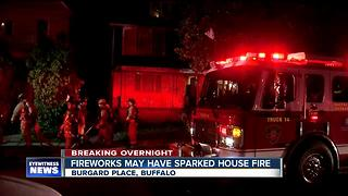 Fireworks may have sparked fire at Buffalo home - Video