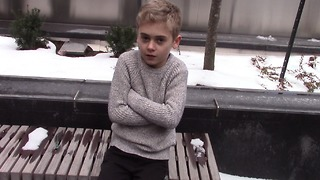 Freezing Child Stands Alone Begging For Help And Only One Woman Stops To Help - Video