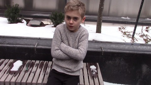 Freezing Child Stands Alone Begging For Help And Only One Woman Stops To Help
