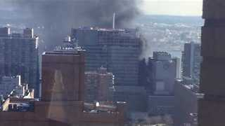 Smoke Billows From NYU Medical Center Fire - Video