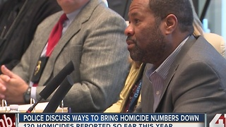 Police discuss ways to bring homicide numbers down - Video