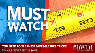 These Tape Measure Tips Will Change Your DIY Projects Forever - Video