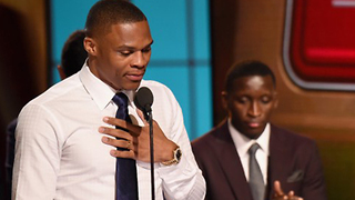 Russell Westbrook Gives Emotional MVP Acceptance Speech - Video