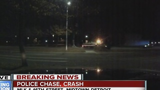 Wayne State Police chase ends with crash - Video