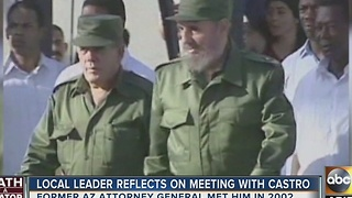Former Arizona Attorney General reflects on meeting Fidel Castro - Video