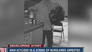 Man accused in a string of burglaries arrested - Video