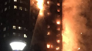 Large Fire Breaks Out at London Tower Block - Video