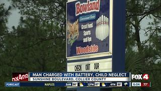 Man charged with battery, child neglect
