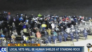 Local vets will be human shields at standing rock - Video