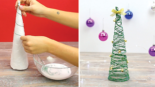 DIY string Christmas tree - Video
