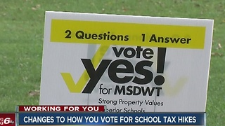 Changes to how Indiana taxpayers vote for school tax hikes - Video