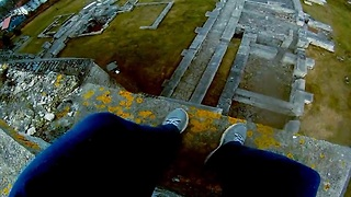 First-hand view of intense parkour stunts