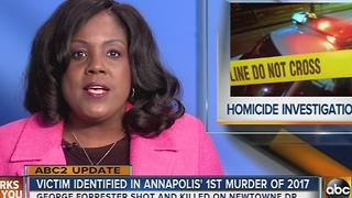 Victim identified in Annapolis' first murder of 2017 - Video