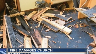 Early morning fire causes $100K in damages to Milwaukee church - Video