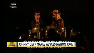 Johnny Depp asks about assassinating President Trump - Video